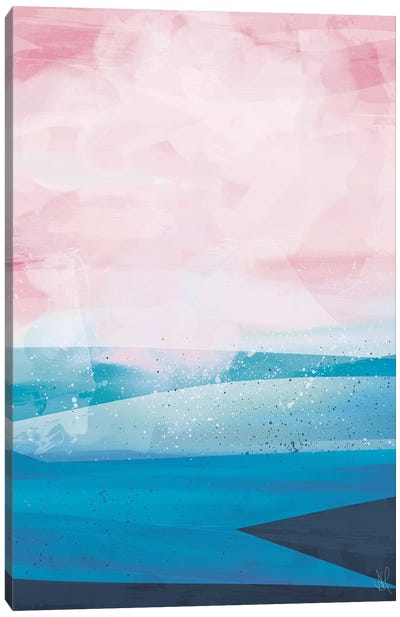 Pink Blue Sea Canvas Art Print