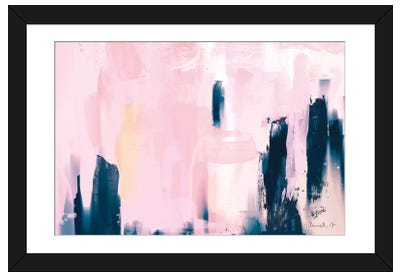 Pink Navy Framed Art Print