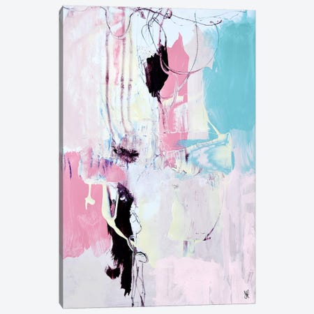 Pink Peach Abstract Canvas Print #HOB81} by Dan Hobday Canvas Art