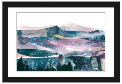 Pink Range Framed Art Print