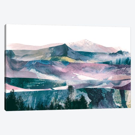 Pink Range Canvas Print #HOB82} by Dan Hobday Canvas Artwork