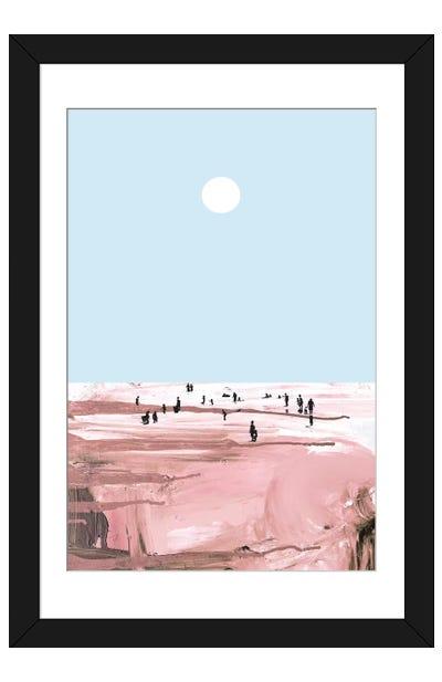 Rose Beach Framed Art Print