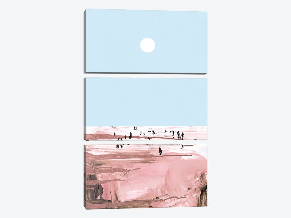Rose Beach by Dan Hobday 3-piece Canvas Art