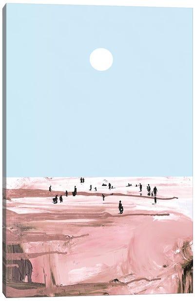Rose Beach Canvas Art Print