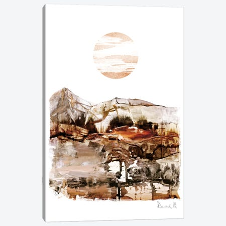 Sunset Mountain Canvas Print #HOB92} by Dan Hobday Canvas Art Print