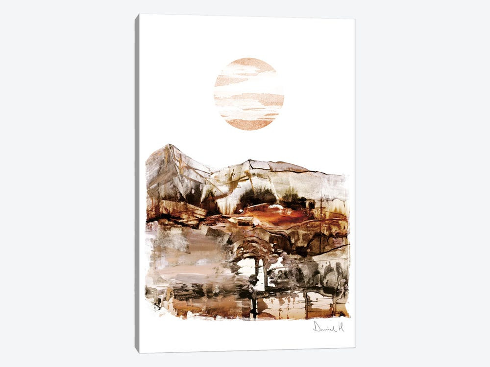 Sunset Mountain by Dan Hobday 1-piece Art Print