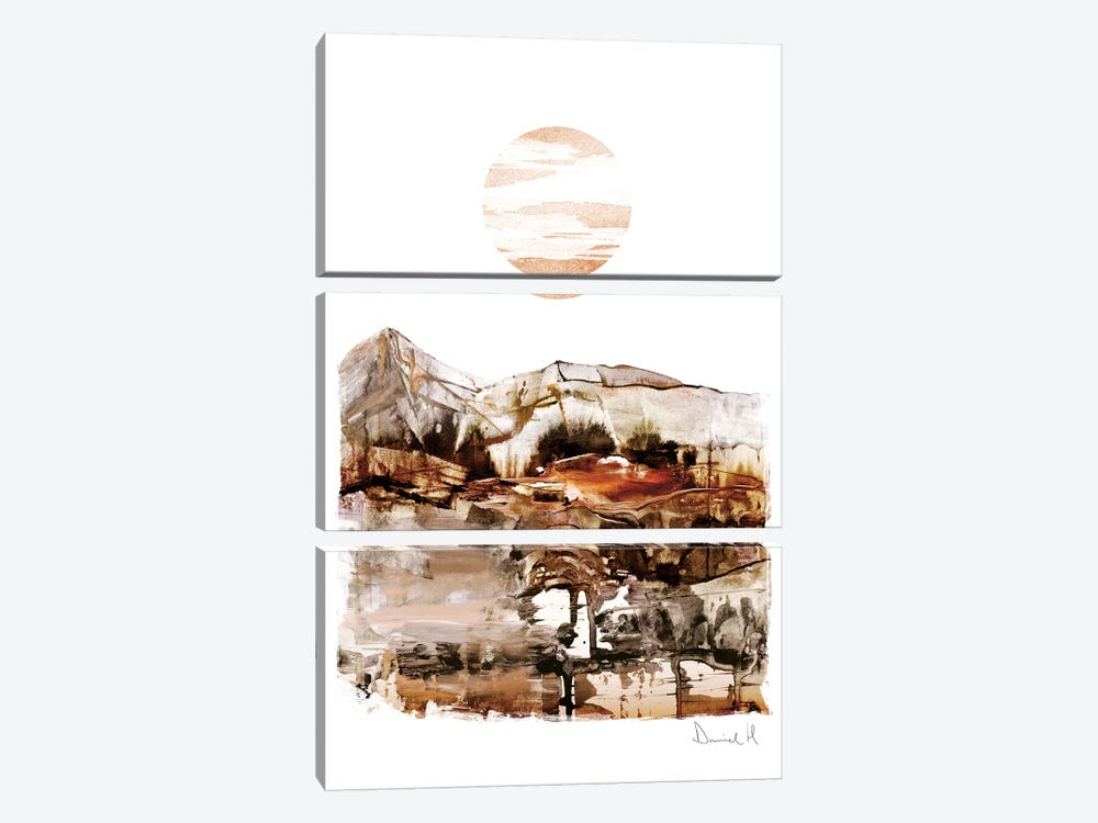 Sunset Mountain by Dan Hobday 3-piece Canvas Print