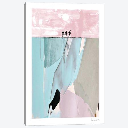 Surfers Canvas Print #HOB93} by Dan Hobday Canvas Art Print