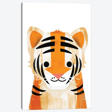 Tiger Canvas Print #HOB95} by Dan Hobday Canvas Wall Art