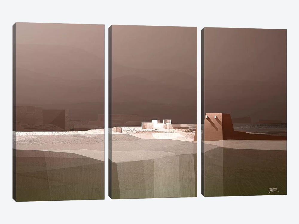 Marvelous Landscape I by Fernando Hocevar 3-piece Canvas Wall Art