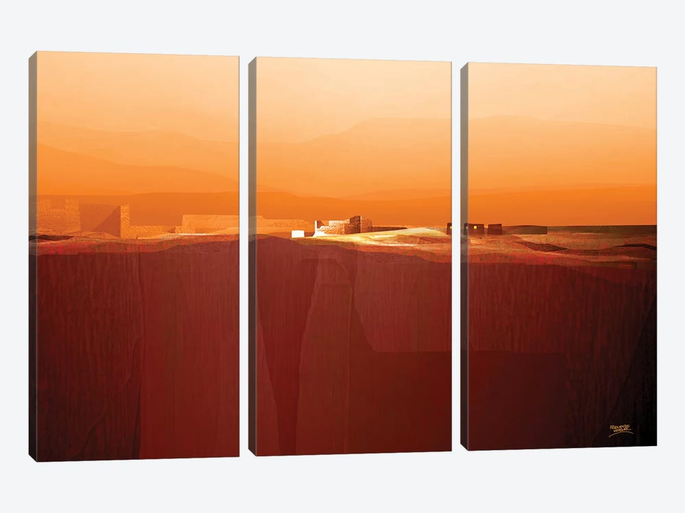 Marvelous Landscape IV by Fernando Hocevar 3-piece Canvas Print