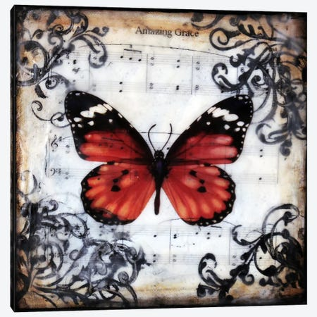 Flutter By 1 Canvas Print #HOD105} by Heather Offord Canvas Artwork