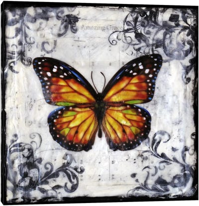 Flutter By 2 Canvas Print #HOD106