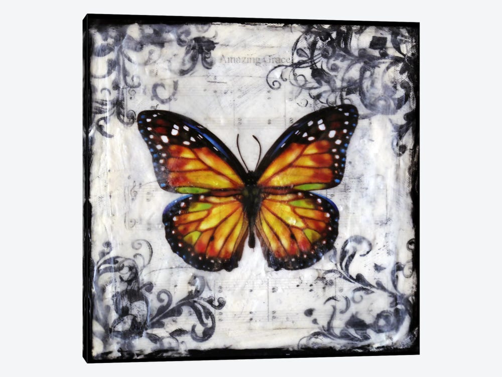 Flutter By 2 by Heather Offord 1-piece Canvas Artwork