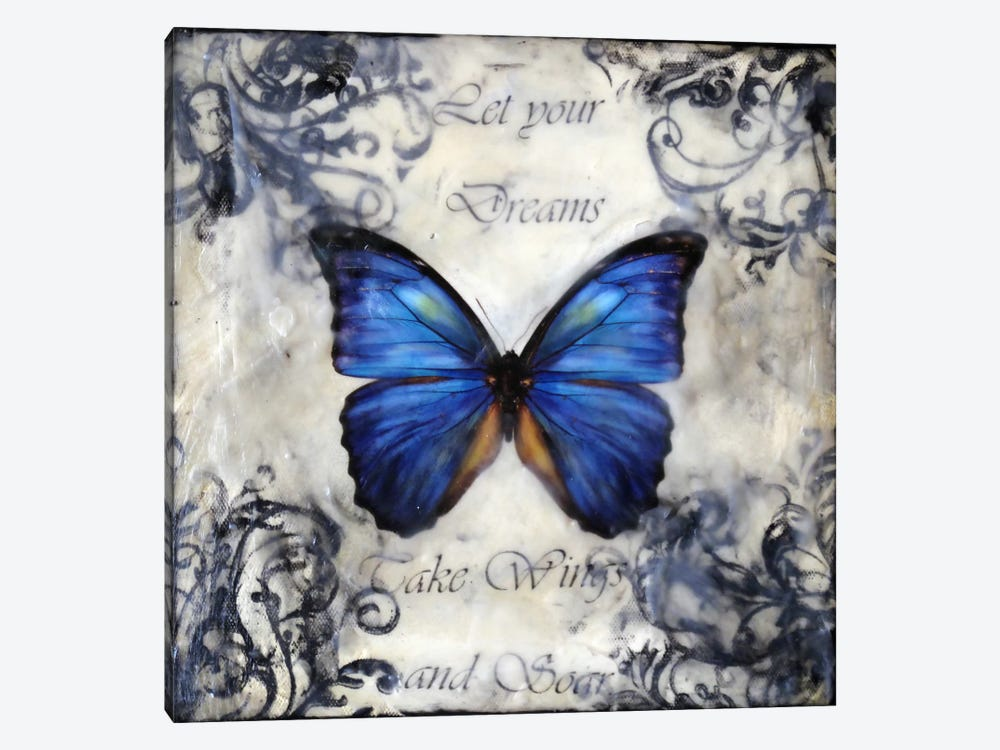 Flutter By 3 by Heather Offord 1-piece Art Print