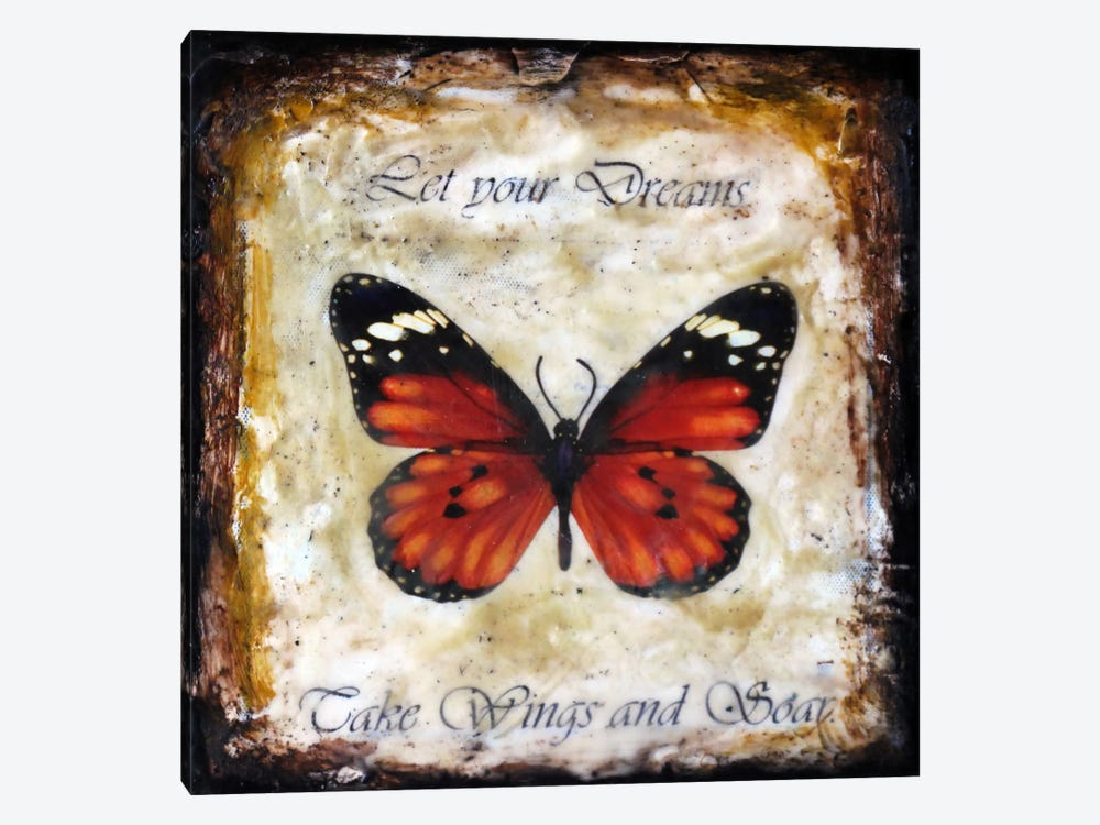 Flutter By 4 by Heather Offord 1-piece Canvas Wall Art
