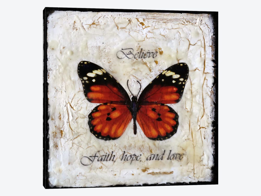Flutter By 5 by Heather Offord 1-piece Canvas Print