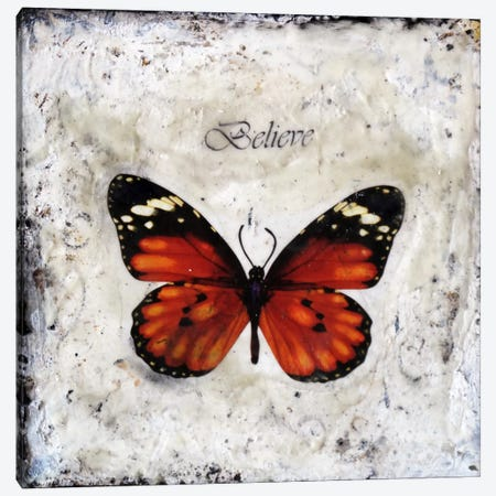 Flutterby 6 Canvas Print #HOD110} by Heather Offord Canvas Wall Art