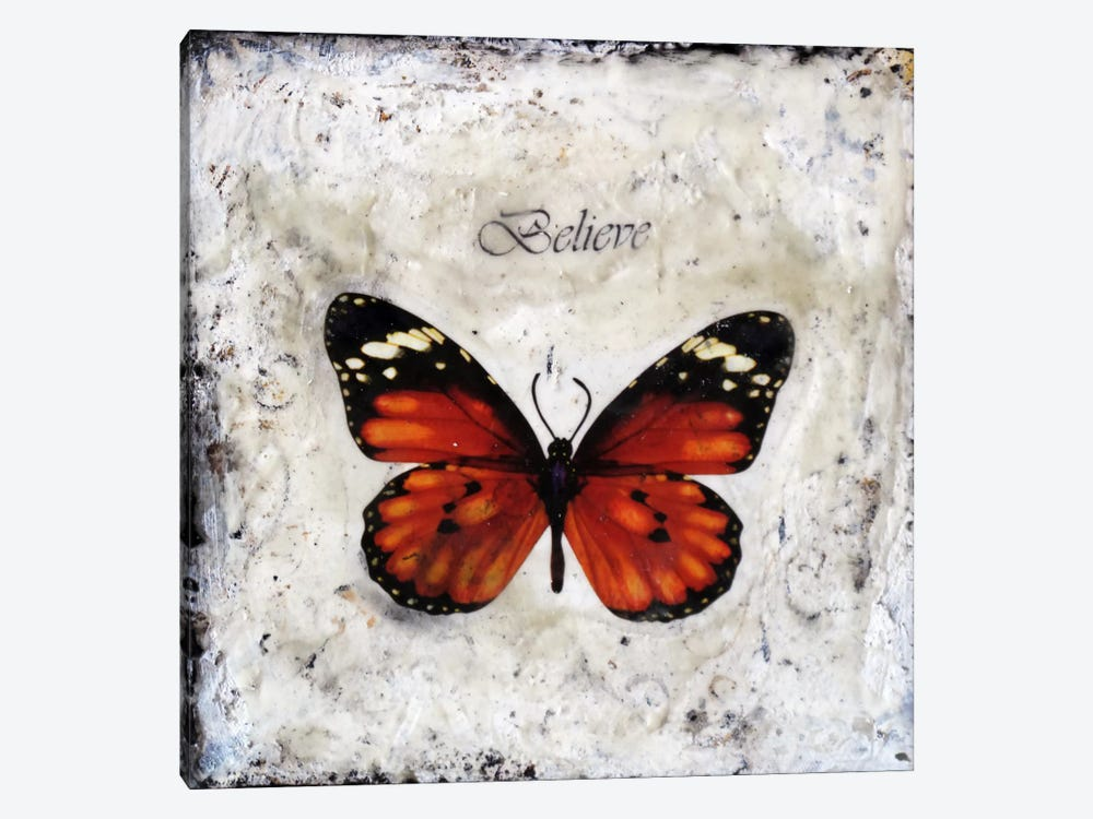 Flutterby 6 by Heather Offord 1-piece Canvas Print