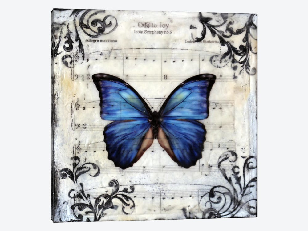 Flutterby 8 by Heather Offord 1-piece Canvas Print