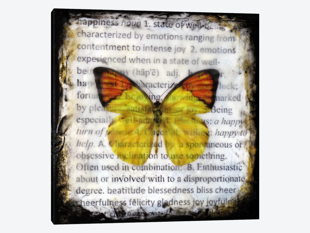 Flutterby 9 1-piece Canvas Artwork