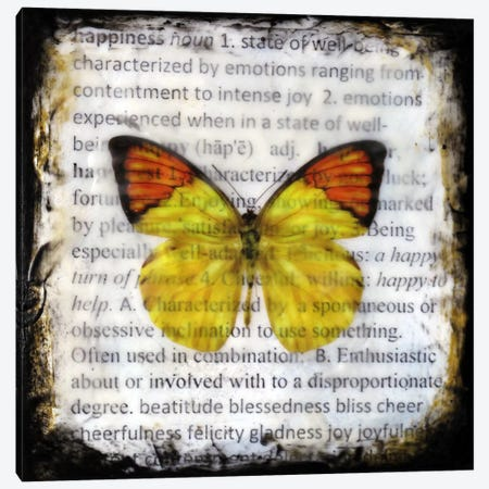 Flutterby 9 Canvas Print #HOD113} by Heather Offord Canvas Artwork