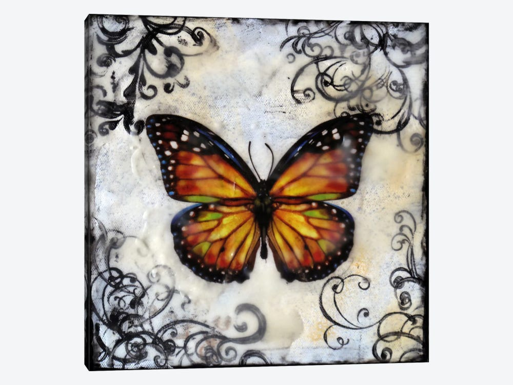 Flutterby 12 by Heather Offord 1-piece Canvas Print