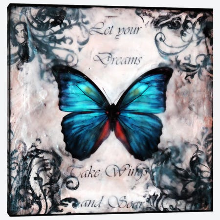 Flutter By 14 Canvas Print #HOD116} by Heather Offord Canvas Art Print