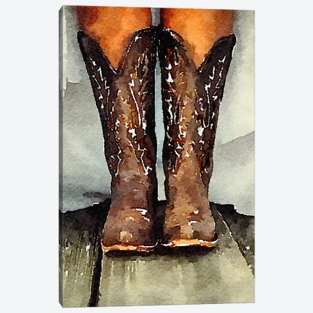 Married With My Boots On Canvas Print #HOD164} by Heather Offord Canvas Art