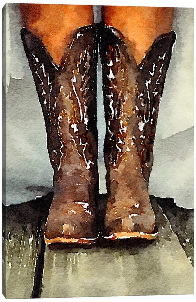 Married With My Boots On Canvas Art Print