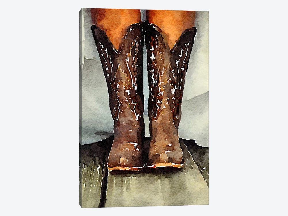 Married With My Boots On by Heather Offord 1-piece Canvas Wall Art