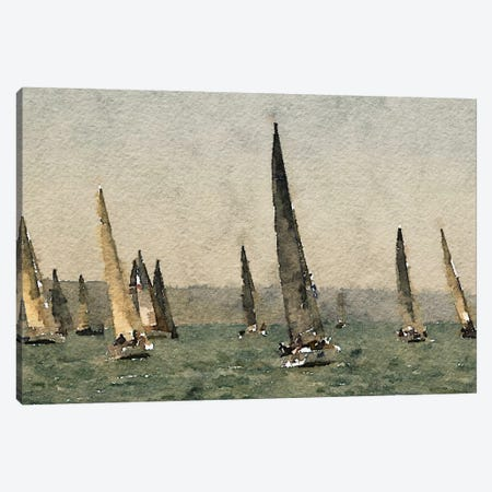 Race Canvas Print #HOD200} by Heather Offord Canvas Artwork