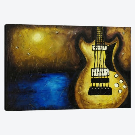 Rock On The Water Canvas Print #HOD208} by Heather Offord Canvas Artwork