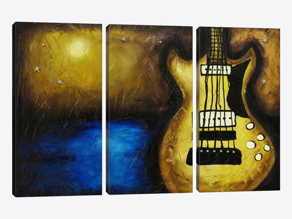 Rock On The Water by Heather Offord 3-piece Canvas Wall Art