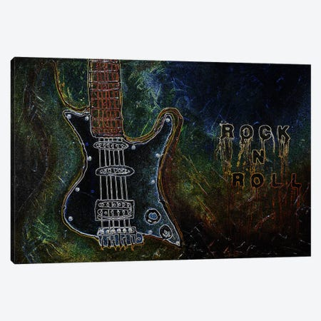 Rockn Roll #1 Canvas Print #HOD210} by Heather Offord Art Print