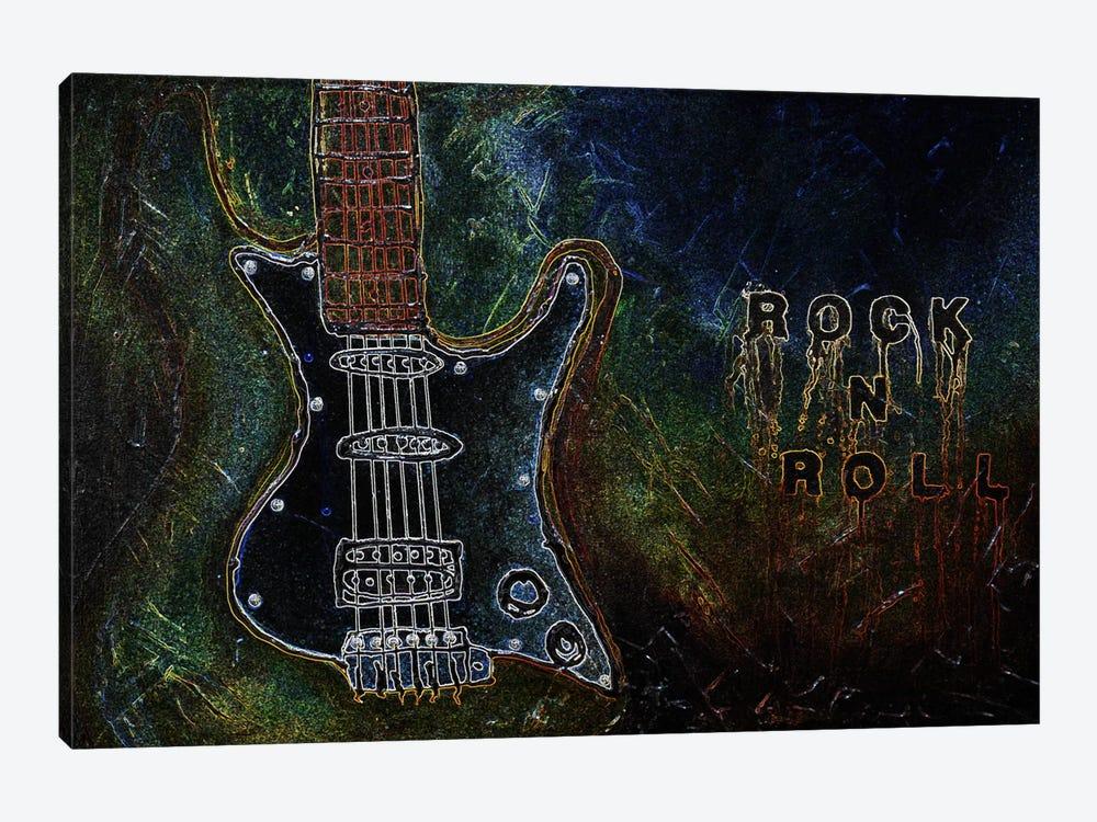 Rockn Roll #1 by Heather Offord 1-piece Canvas Art Print