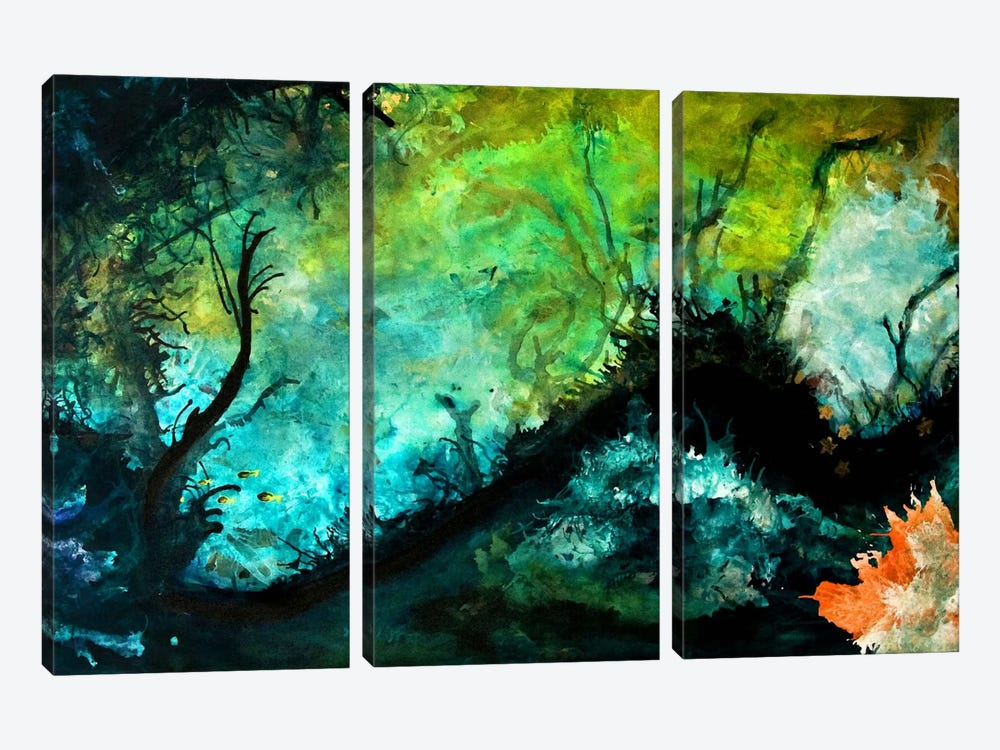 The Dive by Heather Offord 3-piece Canvas Artwork