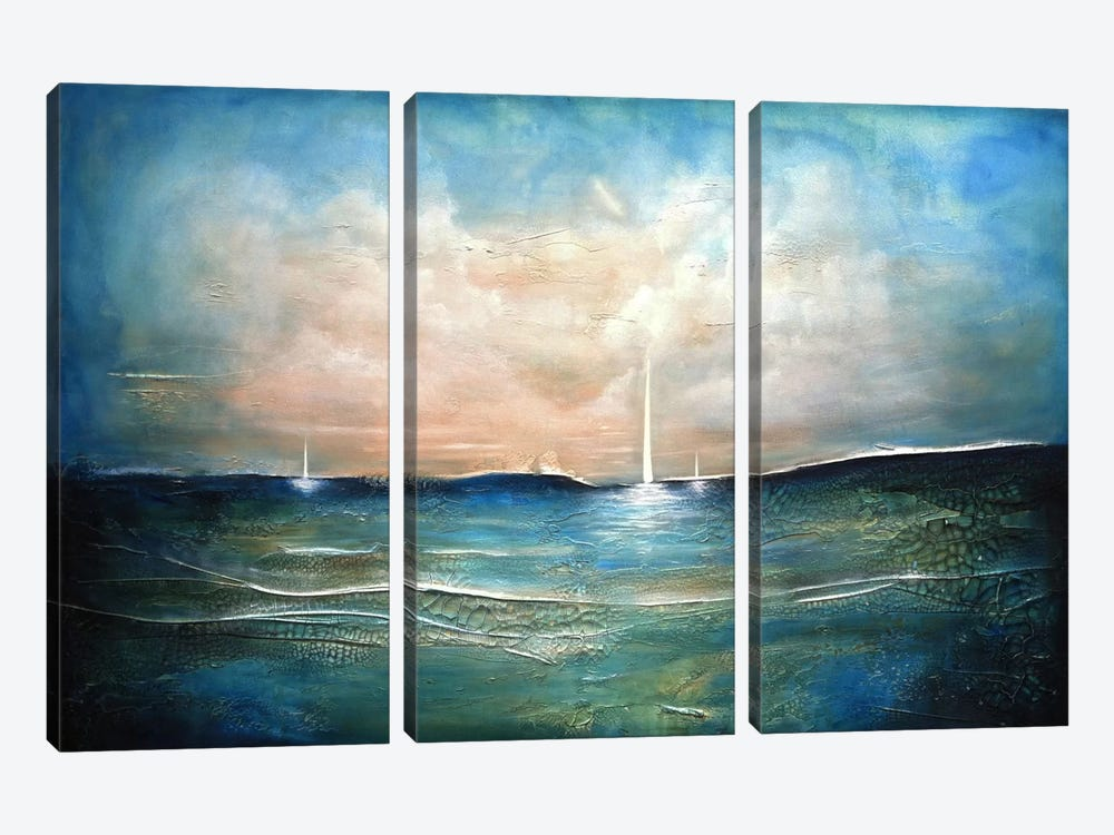 True North by Heather Offord 3-piece Canvas Print