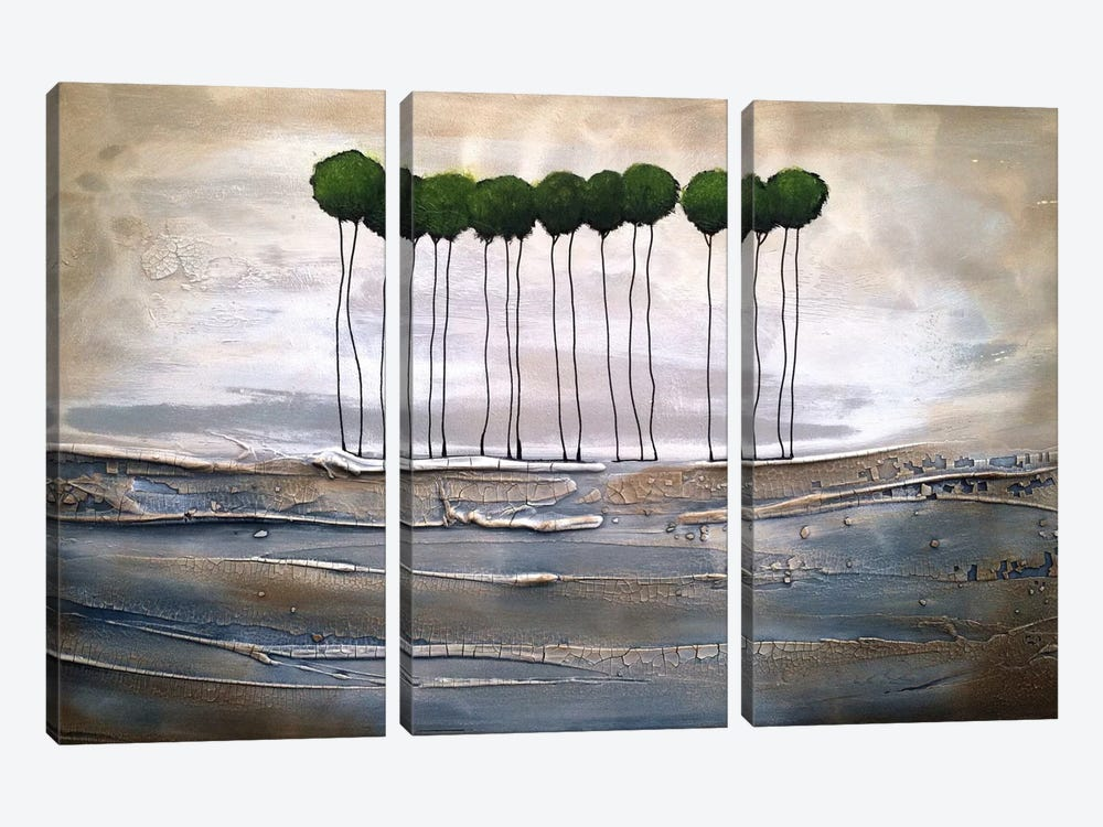 And Here We Are by Heather Offord 3-piece Canvas Wall Art