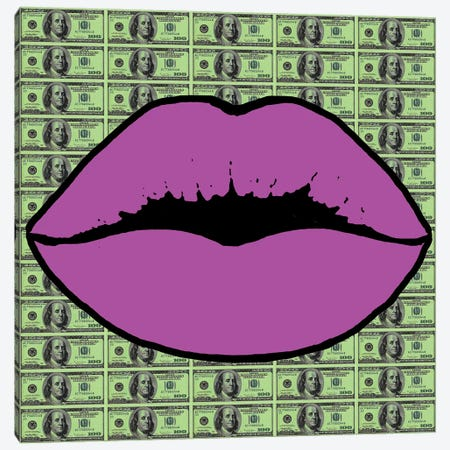 Money Talks II Canvas Print #HOD345} by Heather Offord Canvas Art
