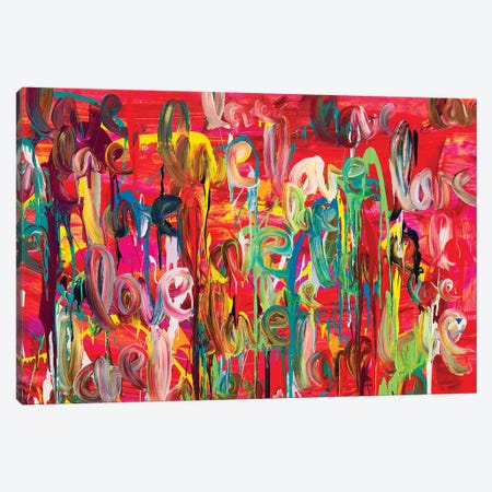 Let It Flow 3-Piece Canvas #HOD360} by Heather Offord Canvas Print