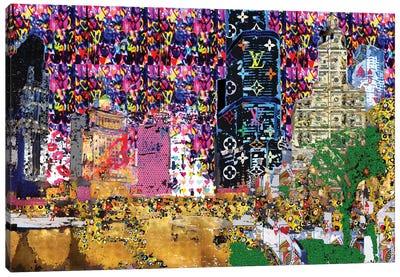 Graffiti City Canvas Art Print