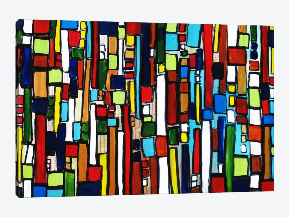 Busy City by Heather Offord 1-piece Canvas Print