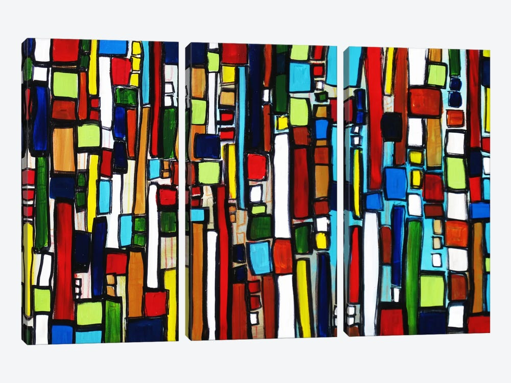 Busy City by Heather Offord 3-piece Art Print