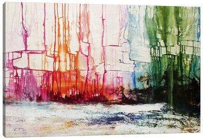 City On The Lake Canvas Art Print
