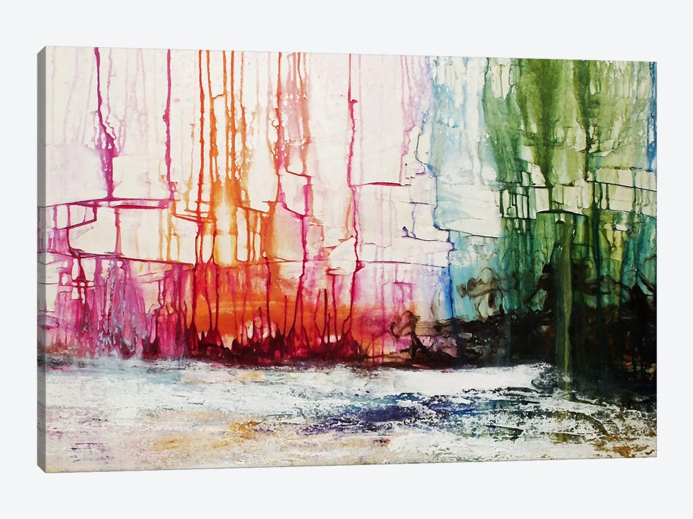 City On The Lake by Heather Offord 1-piece Art Print