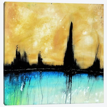 City On The Bay Canvas Print #HOD60} by Heather Offord Canvas Wall Art