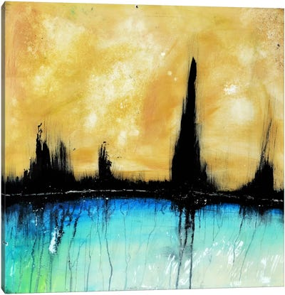City On The Bay Canvas Art Print