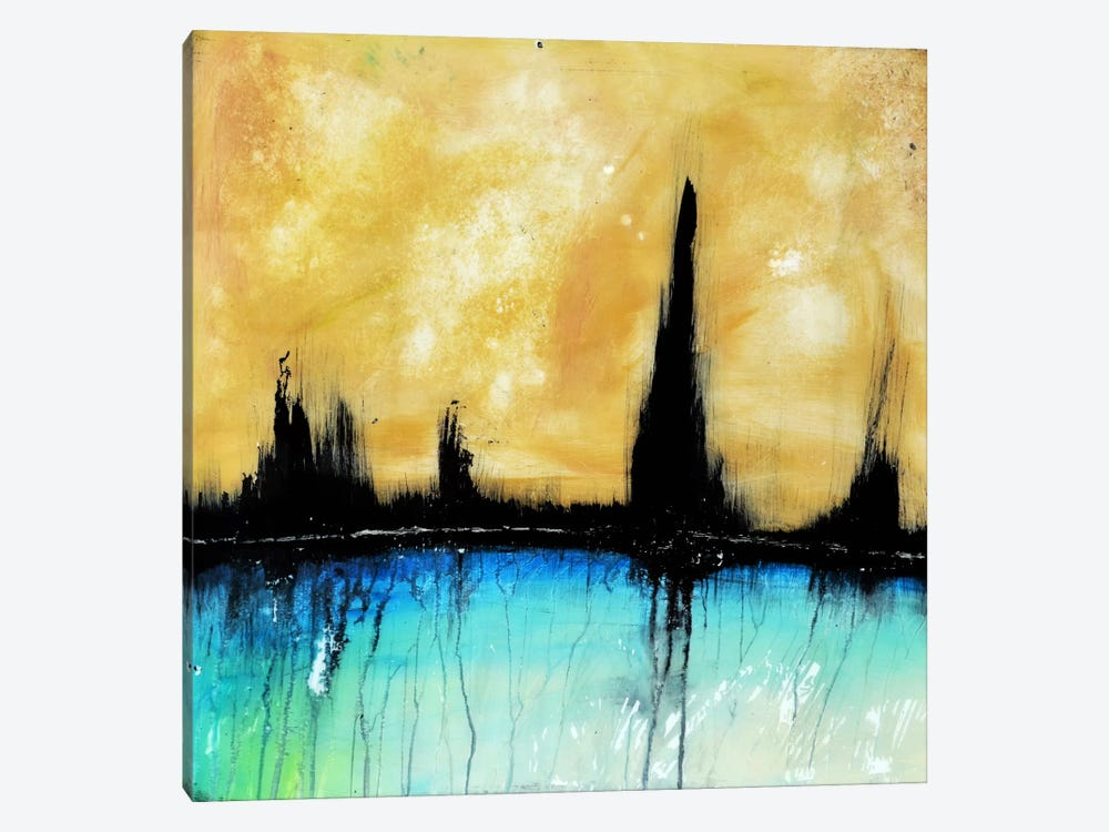 City On The Bay by Heather Offord 1-piece Canvas Artwork