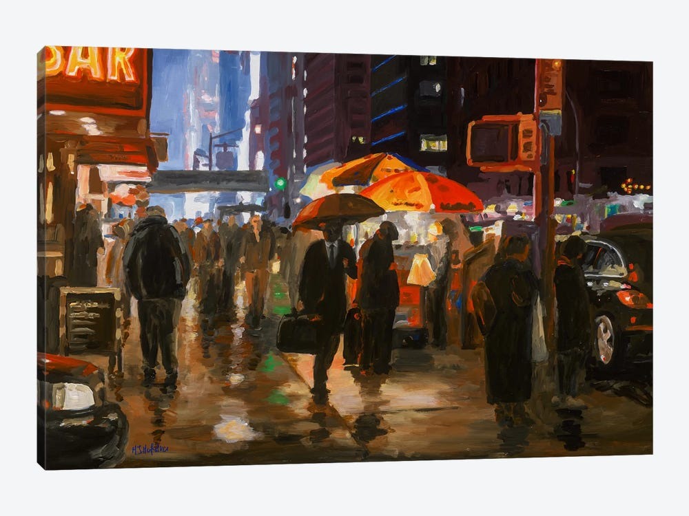 6th Avenue, New York by HJ Hofstra 1-piece Canvas Art Print